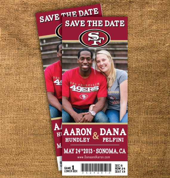 Sports Team Ticket Save The Date Printable