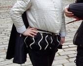 Men's Used Black & White Satin Elizabethan/Renaissance Reenactment Costume - Large/XL Size