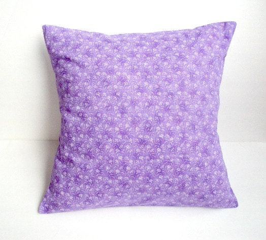 Throw Pillow Lilac : Lilac 18x18 Decorative Pillow Cover