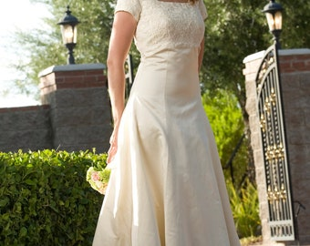 Luciana Satin & Lace Bridal Gown