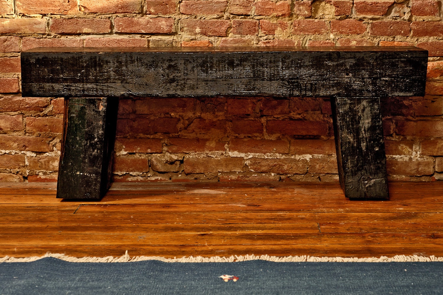 Railroad Tie Indoor Outdoor Bench