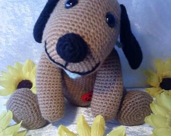 "PDF crochet pattern - pattern ""Dog Benno"""