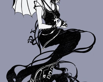 T-shirt Design of Death from the Sandman Series