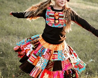 PeNnY PatchWork Twirl Skirt - pdf tutorial - ebook - 18m - 12y
