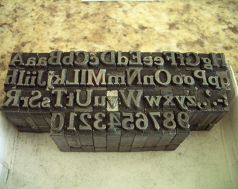 HH11 - AWESOME Full Alphabet - Almost All Inclusive Letterpress Lot
