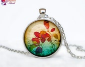Leaf Necklace, Autum Fall Leaves pendant  Leaf jewelry flower nature gift - ThePendantIsland