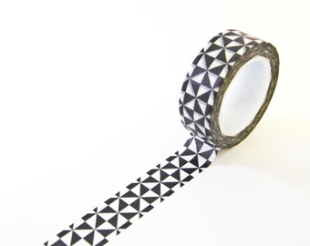 Washi Tape Triangles - Geometric Masking Tape - Black & White Washi Tape in Australia