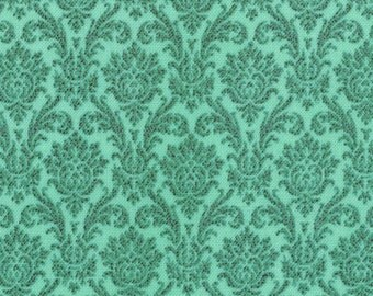 Blitzen Christmas Fabric - Blitzen Damask Aqua by BasicGrey for Moda Fabrics 30298 18  - 1/2 yard