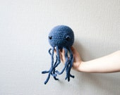 Crochet octopus pattern amigurumi soft toy plush pattern diy instant download PDF file - two in one pattern for big and small octopus