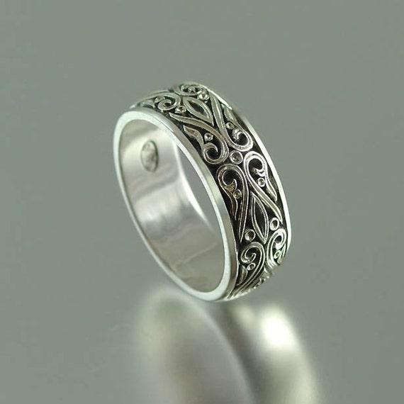 PRINCE CHARMING silver wedding band