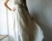 Bohemian Wedding dress, Chiffon Wedding dress, Gypsy wedding dress, Beach wedding dress, boho wedding dress, Hippie wedding dress, strapless