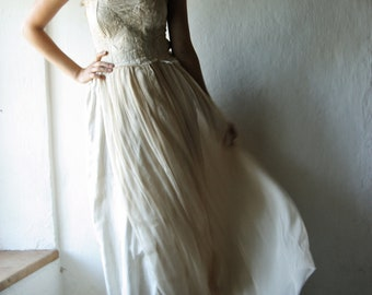 Bohemian Wedding dress, Fairy Wedding dress, Gypsy wedding dress, Beach wedding dress, Boho wedding dress, Hippie wedding dress, Pagan dress