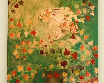 Ivy Lady Fine Art Print---16x20 Fine Art Canvas Print