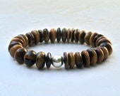 bracelet for women, Christmas gift idea under 50, ready to ship, gift wrap included, tiger eye sterling silver