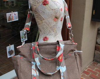Watermelon Wishes Baby Diaper Bag + Changing Pad