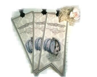 Jane Austen Bookmark Regency Bonnet Tag Regency Bookmark Dorothy Jane
