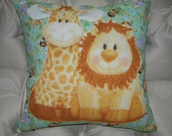 Jungles Babies 16in Square Decorative Pillow