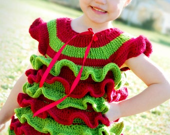 Cute Crochet Shirt Pattern - Christmas Petti Romper type Shirt - make it any custom size - PDF PATTERN - Instant Download