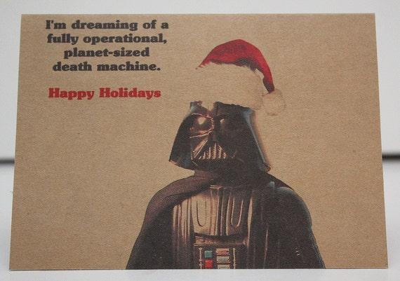 Christmas card - Star Wars - Darth Vader - Holiday card- funny card - Happy Holidays