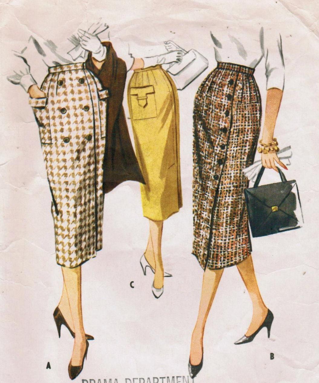 1950s mccall s 4415 vintage sewing pattern misses slim