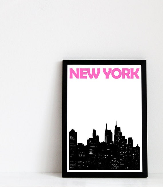 New York City Print // Skyline Art Print