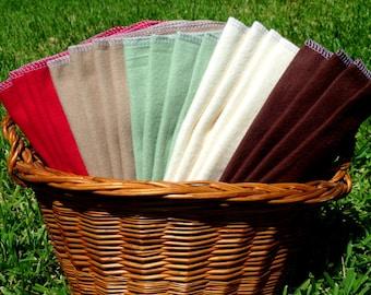 20 Cloth Napkins - Cloth Reusable Paper Towels - Unpaper Towels - Soft Flannel Napkins - Everyday Napkin Casual Paperless Towels 100% Cotton