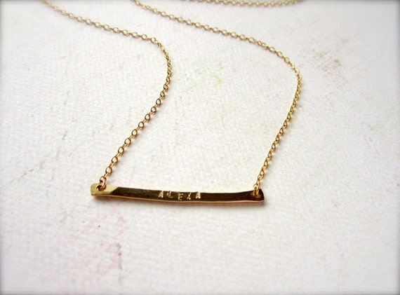 Custom Tiny Name Necklace Name Necklace Gold Name Necklace