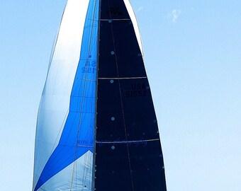 Nautical Wall Decor, Blue Sailboat Print, Sailboat Photography, Blue Nautical Decor,Blue Boat Art,Royal Blue Wall Art,Ocean Art,Sailboat Art
