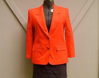 vintage Pendleton Vivid Red Wool Blazer