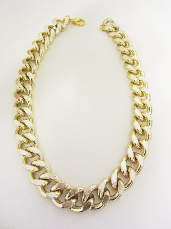 Amazoncom chunky gold necklace