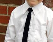 Black Skinny Tie - Infant, Toddler, Boys- 2 weeks before shipping