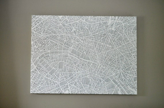 paris stretched canvas, 18x24, 50% off, ONLY 1 available