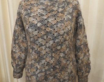 Vintage  Warm Mohair Multicoloured Jumper Sweater