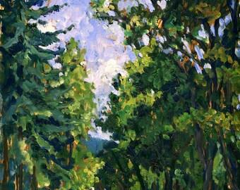 Bloomsday, Hades. Realist Oil Painting Landscape on Panel, 9x12 Plein Air American Impressionist Artwork, Signed Original Fine Art