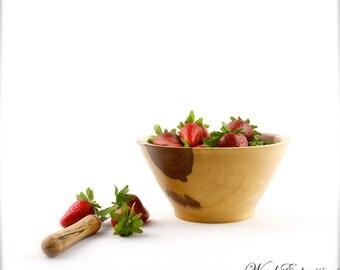 "7""  Wooden Elm Bowl / Berry or Fruit Bowl"