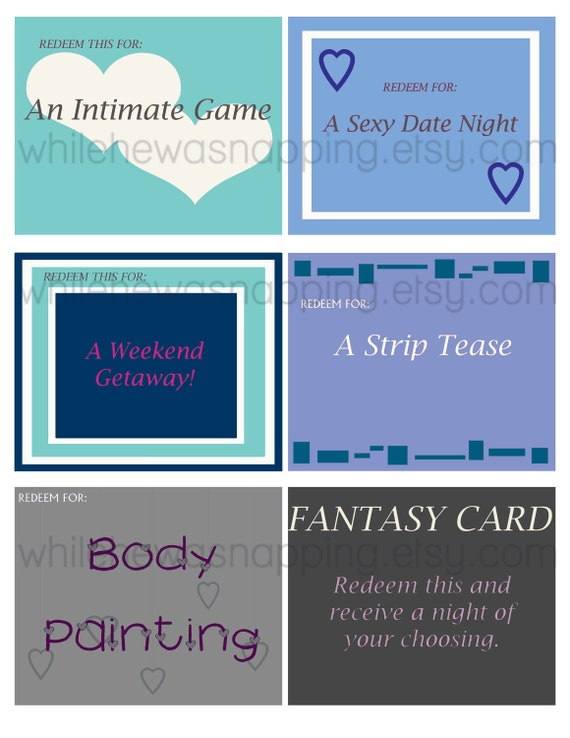 Bedroom Love Coupons For Him/For Her Instant By