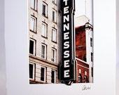 Matted and ready to frame - Unique 3D fine art photograph - Knoxville - Downtown - TN Theater