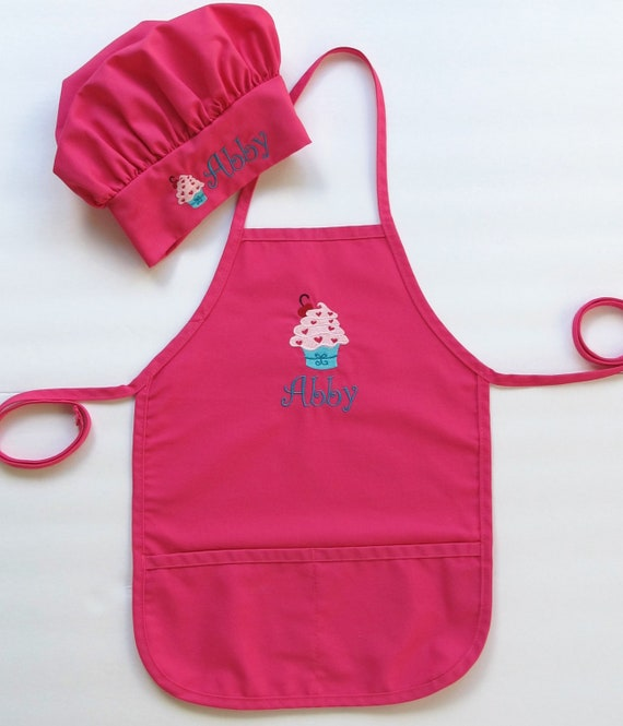 Personalized Kid Apron and Chef Hat