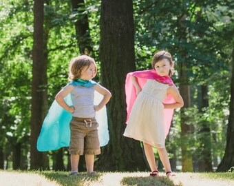 5 BLANK Super Hero Capes - Fast Shipping - PARTY FAVOR Set - Super Hero Party, You choose the colors, Affordable Capes