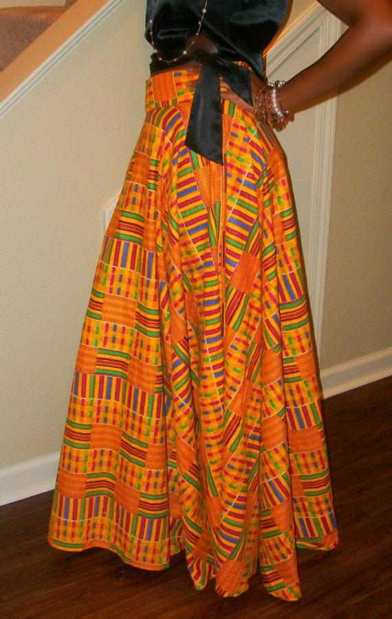 Long Kente skirt.