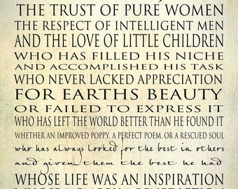 Strong Women Word Art Print - Bessie Stanley Quote Series Gallery Wrapped Canvas 16x20 Cream Linen Flax Black