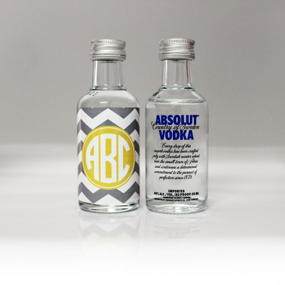 Items similar to Custom Absolut Vodka Mini Bottle Labels ...
