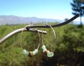 Jasper and Jade Hoop Earrings