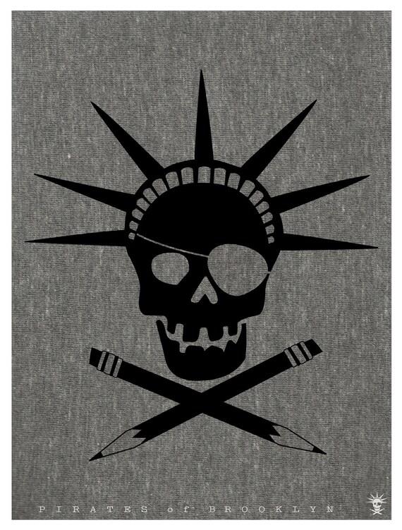 Pirates of Brooklyn - Gray Tee