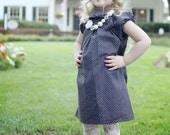 Black and Off White Girls Crochet Hat Beanie - Baby Toddler Children Sizes