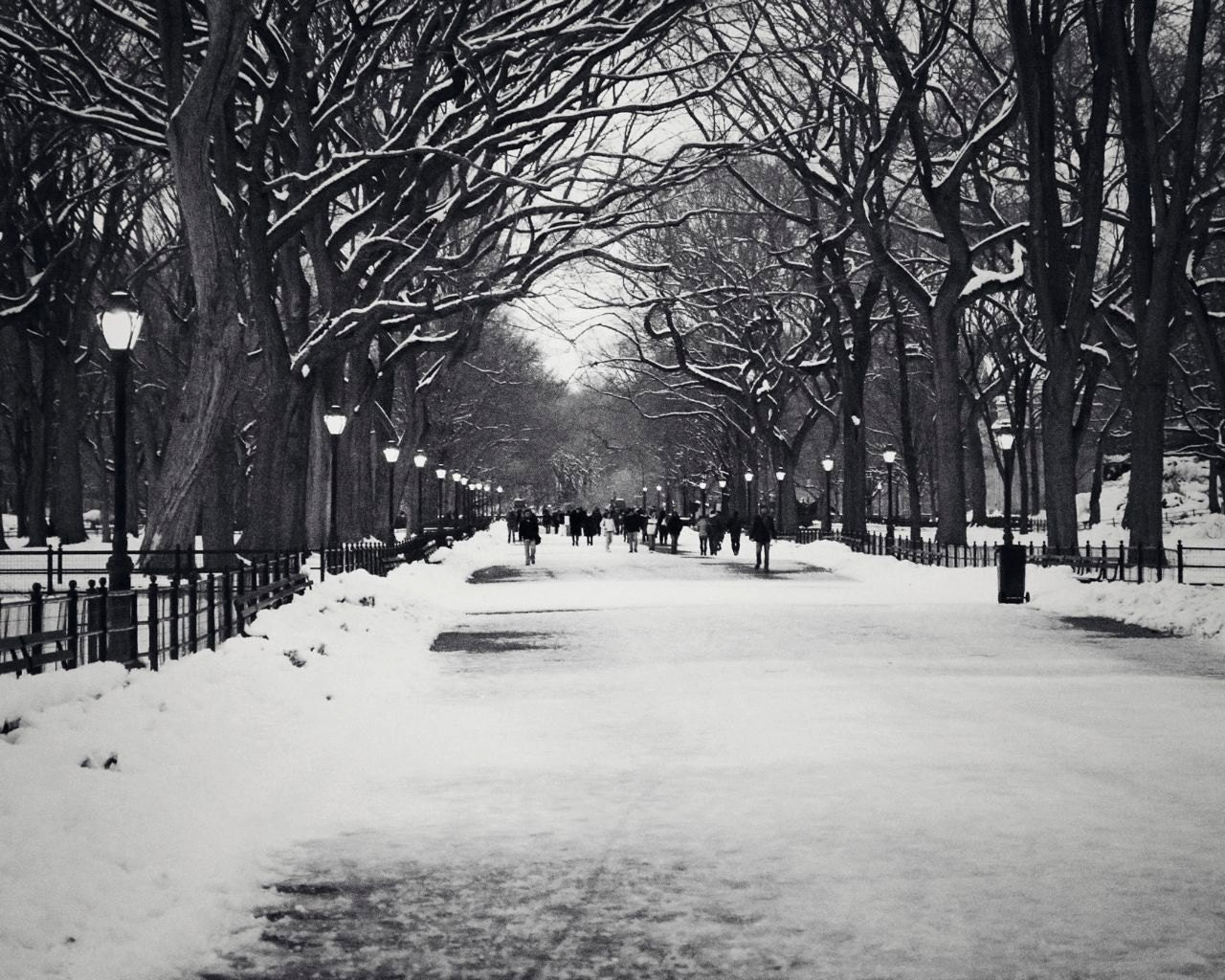 Black And White New York City Print Winter Home Decor