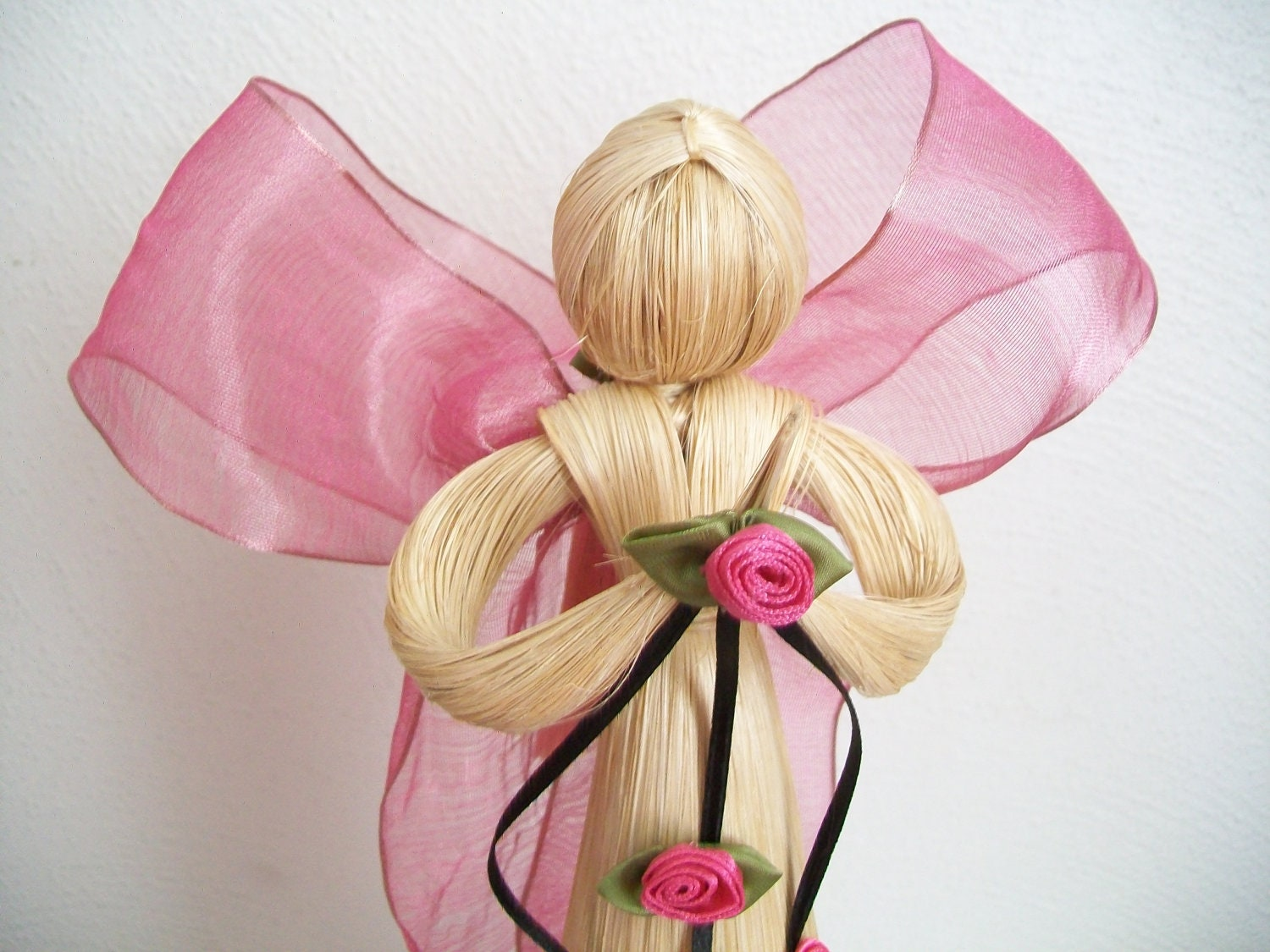 Angel Tree Topper Pink And Black Angel