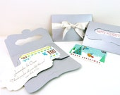 """8 Gift Card Holders w/ bracket card insert, 4.5"""" x 3"""", gift tags, photo packaging, business card envelope, invitation, bridesmaid card"""