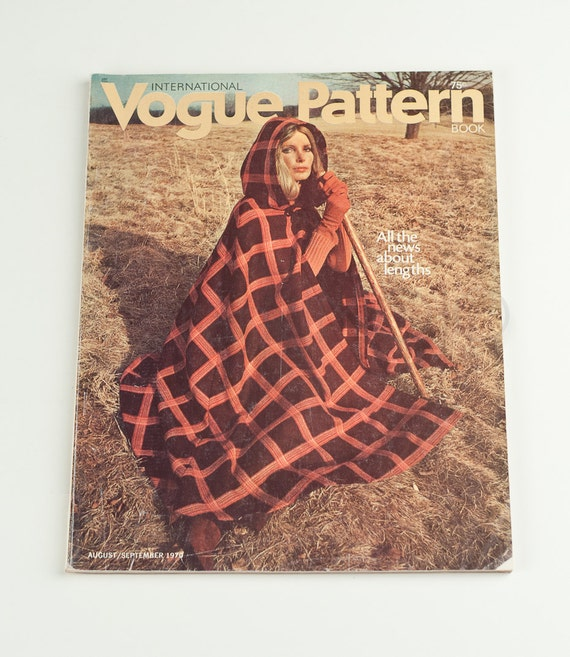 Gorgeous vintage Vogue Pattern Book International August / September 1970 oscar de la renta interview fall preview designers couture women