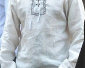 Simple medieval linen shirt, long sleeve  perfect for summer